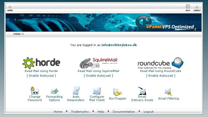 Webmail hos Meebox