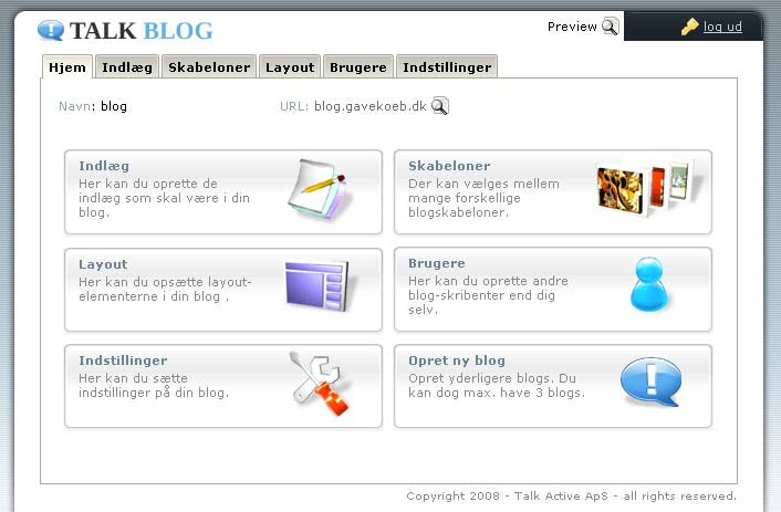 Blog hos webhotellet Web10