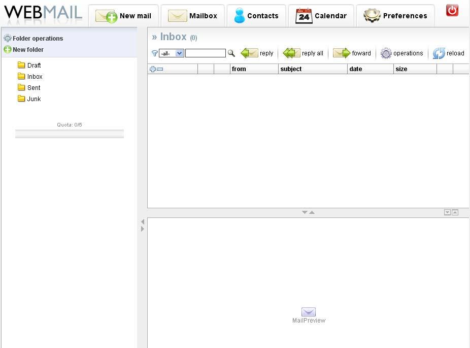 Webmail hos Web10